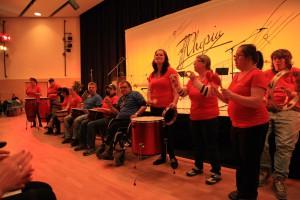 Die Friedbergdrummers beim Integrativen Provinzkultur-Festival